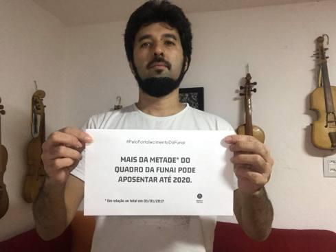 Filpo Ribeiro Pelo Fortalecimento da Funai. São Paulo