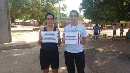 Participantes do Encontro REM na TI Bakairi/MT pelo fortalecimento da Funai