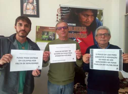 Marco, Guerino e Sebastião da CR Litoral Sudeste. Itanhaém/SP
