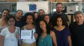 Trabalhadores do ASIBAMA juntos pela luta do fortalecimento da Funai. Rio de Janeiro/RJ