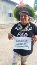 Sane Terena. Participantes do Encontro REM na TI Bakairi/MT pelo fortalecimento da Funai
